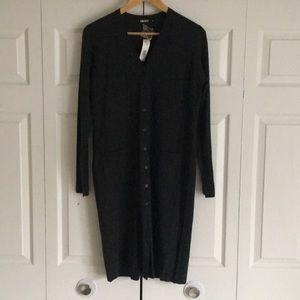 NWT DKNY 100% Merino Wool Duster Sweater